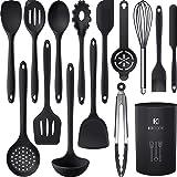 Silicone Cooking Utensils Set - 446°F Heat Resistant Kitchen Utensils,Turner Tongs,Spatula,Spoon,Brush,Whisk.Kitchen utensil