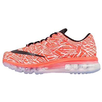 new styles f4975 d2eb6 Nike WMNS Air Max 2016 Print, Chaussures de Running Entrainement Femme,  Naranja (Hyper