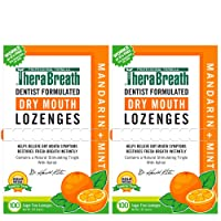TheraBreath Dry Mouth Lozenges with ZINC, mandarin mint Flavor, 100 Lozenges (Pack Of 2)