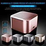 Portable Wireless Bluetooth Speaker with HD Sound &Enhanced Bass Outdoor Stereo Speakers with Built-in Mic/Handsfree/AUX Line/TF Card/Lanyard for Cyclists Iphone Ipad Android Smartphone -Pink