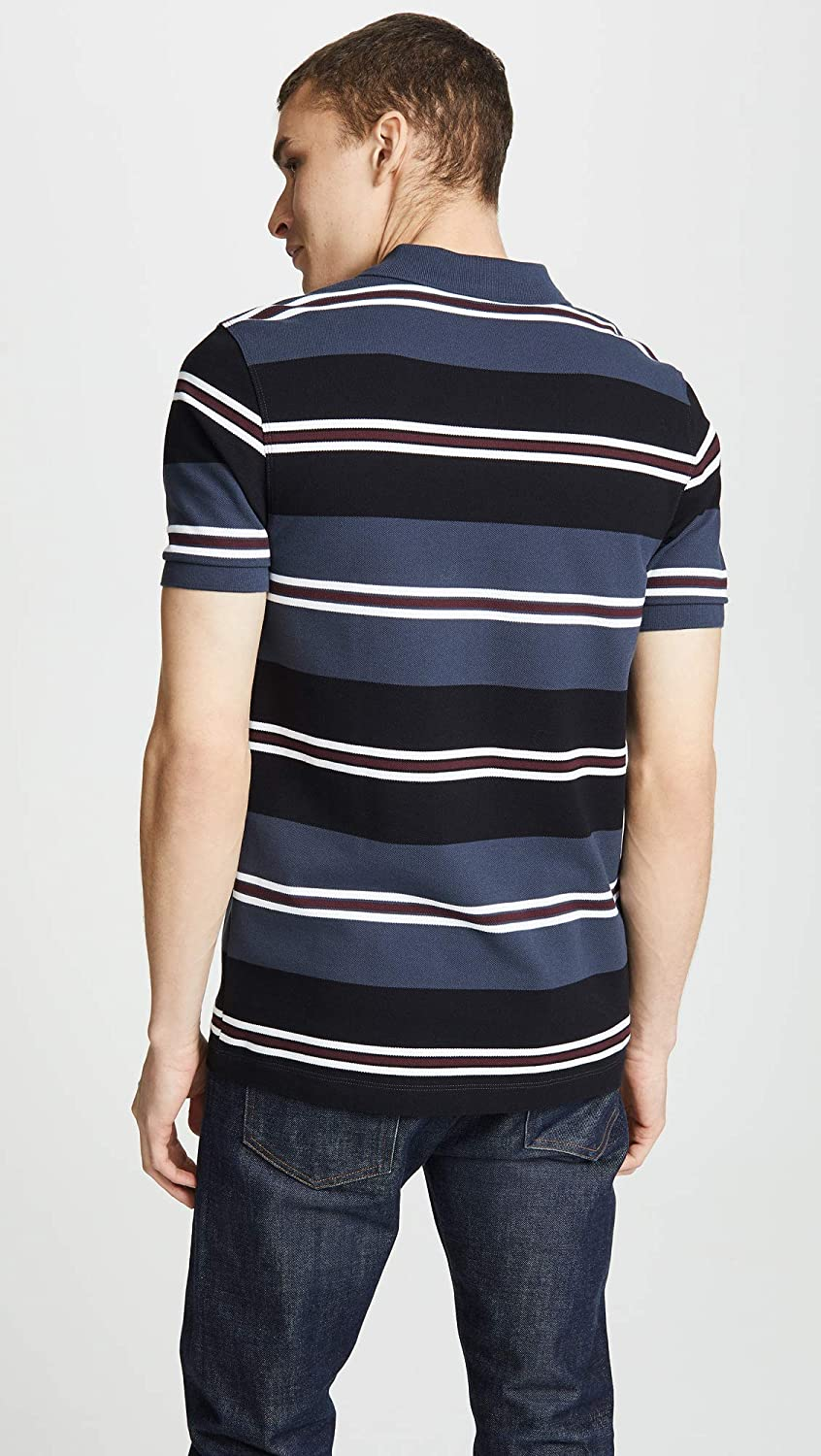 928aff284 Fred Perry Men s Contrast Stripe Polo Shirt M5507 102 Black  Amazon.co.uk   Clothing