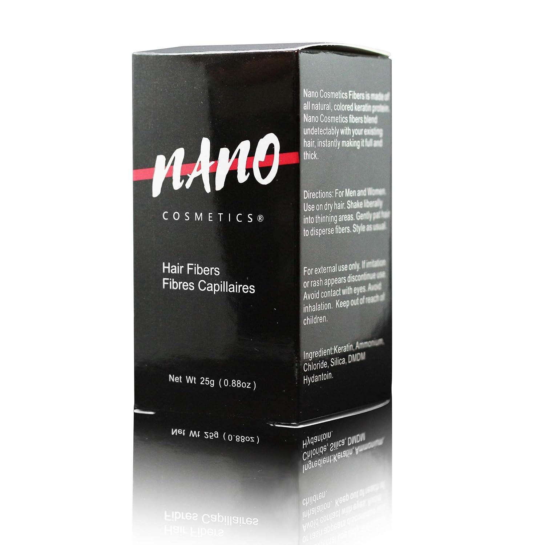 Polvo de queratina para cabello y barba | Fibras de cabello de queratina NANO Cosmetics® 25 g | anti báldanos y alopecia | 100% natural | Hombres y mujeres: ...