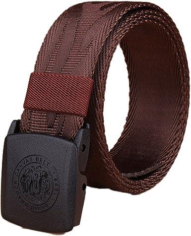 Cinturón Militar Para Hombre De Lona De Lona Cinturón Tejido ...
