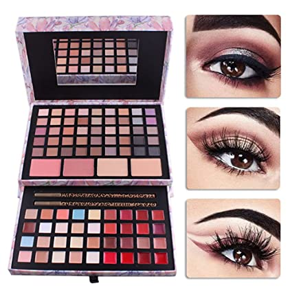 d10f3d2be Pure Vie 85 Colores Sombra De Ojos Corrector Rubor y Brillo de Labios  Paleta de Maquillaje