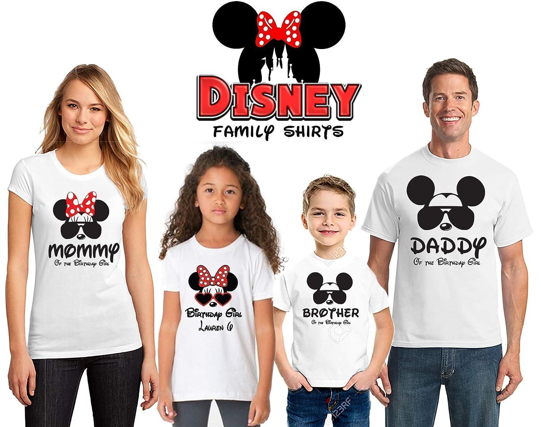 Disney Birthday Shirts For Women Men Kids Family Matching Personalized