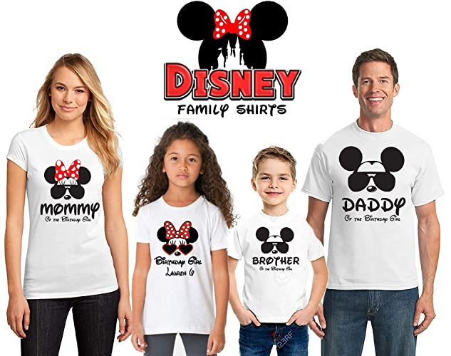 Disney Birthday Shirts For Women Men Kids Family Matching Personalized