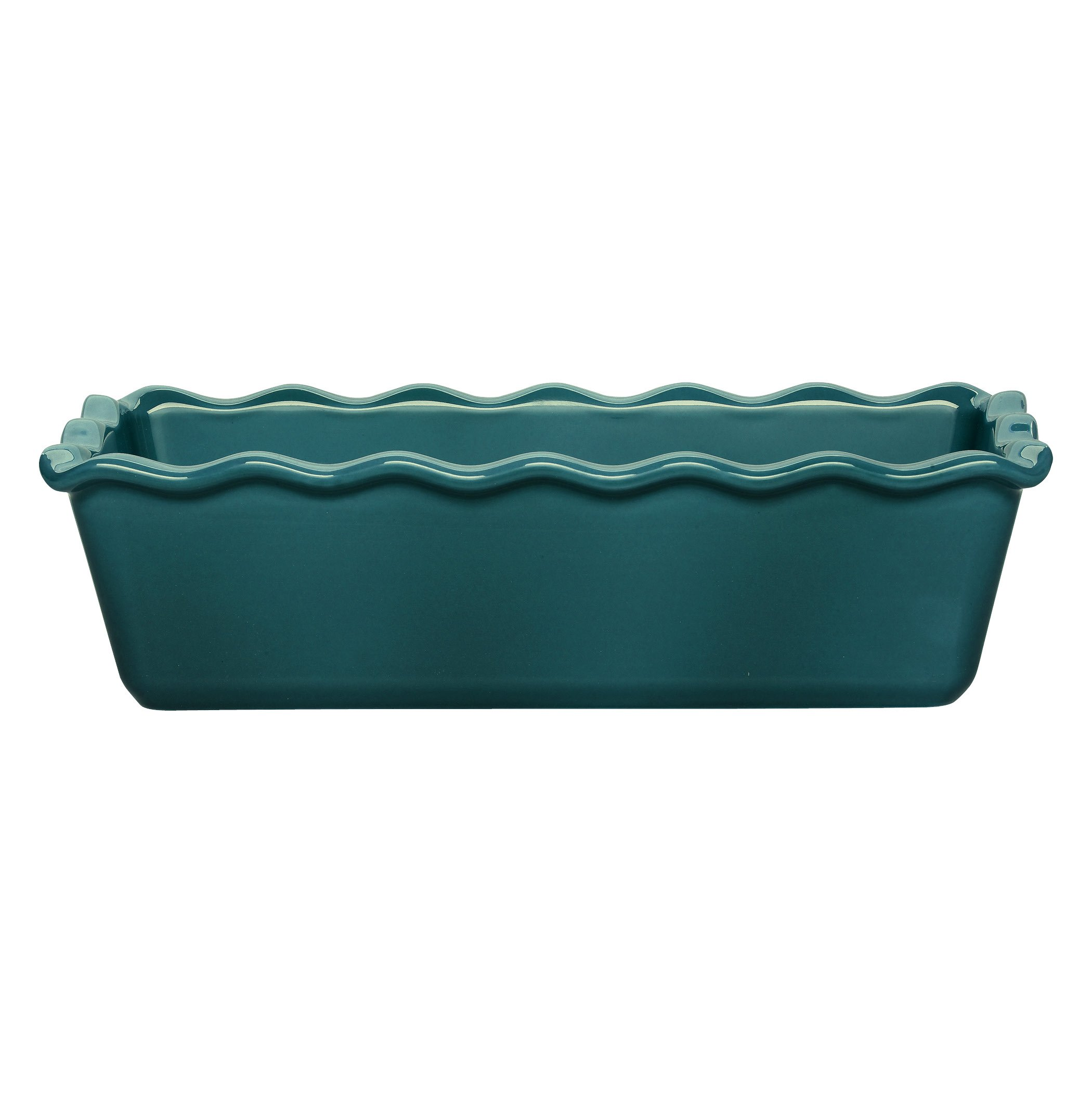Emile Henry Made In France Ruffled Loaf Pan, 9'' by 5'' by 3'', Blue Flame by Emile Henry
