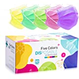 Colorful Face Mask Colored Disposable Face Mask Colored Masks 50Pcs for Women Face Mask Disposable 3 Ply Pink Disposable Face
