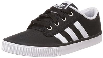 Adidas Originals Kiel K chico negro, blanco y plata zapatillas 6