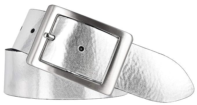 7ebf77f75c3f05 Bernd Götz Damen Leder Gürtel 40 mm silber Nappaleder kürzbar Damengürtel  (80 cm)