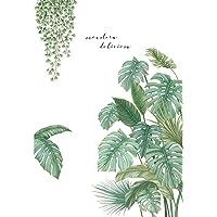 Groene Planten Muurstickers Nordic Breedbladige Behang Muur Decor voor Woonkamer Slaapkamer Studie zelfklevende…