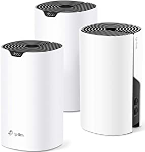 TP-Link Deco Whole Home Mesh WiFi System– Up to 5,500 Sq.ft. Coverage, WiFi Router/Extender Replacement, Gigabit Ports,Seamless Roaming, Parental Controls, Works with Alexa(Deco S4 3-Pack)
