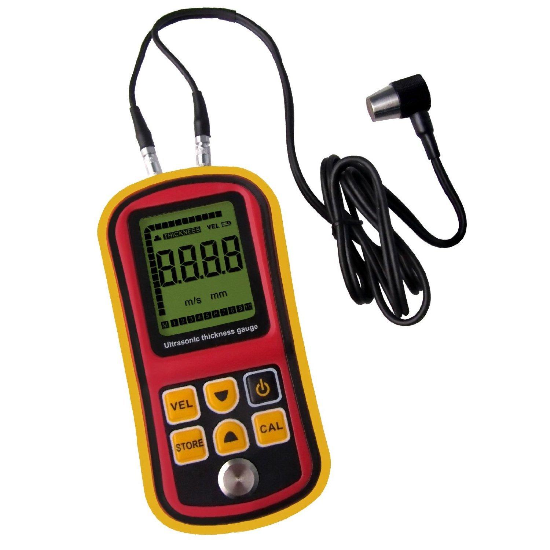 DecentGadget Ultrasonic Thickness Meter Tester Gauge Velocity 1.2~225mm Metal Wave Espesor Ultrasónico Medidor Probador Medidor de velocidad: Amazon.es: ...