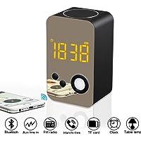 XREXS Alarm Clock Bluetooth Speaker with Night Light,FM Radio