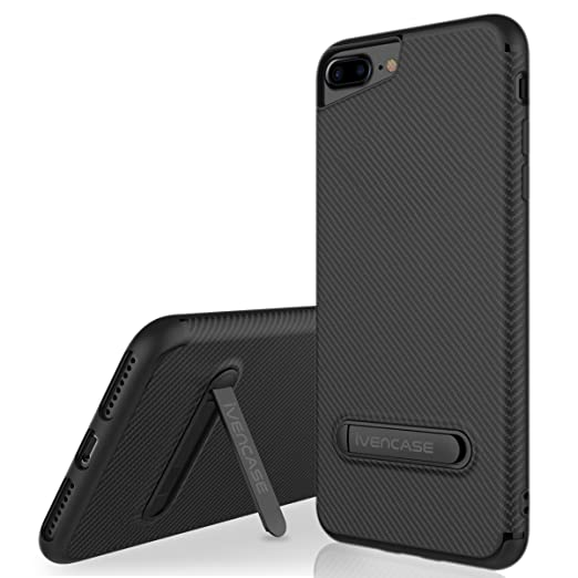 17 opinioni per Custodia iPhone 7 Plus, iPhone 7 Plus Cover Nero , ivencase Morbido TPU Metallo