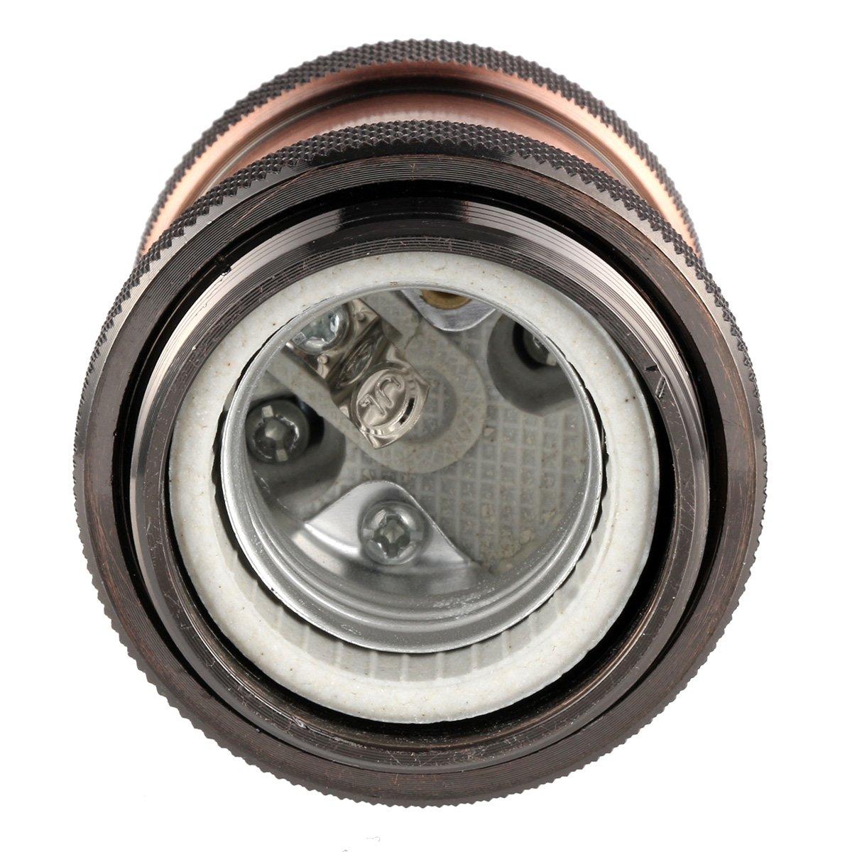 GreenSun Vintage Edison Style E27 Light Bulb Holder Retro Lamp Socket Pendant Light Adaptor for Ceiling Hanging Light 4Pack #2