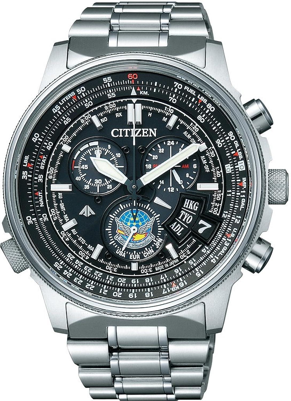 [シチズン]CITIZEN 腕時計 PROMASTER プロマスター SKYシリーズ Eco-Drive エコドライブ 電波時計 ダイレクトフライト ディスク式 ブルーインパルスモデル 【数量限定】 BY0080-65E メンズ B009RBMEW0