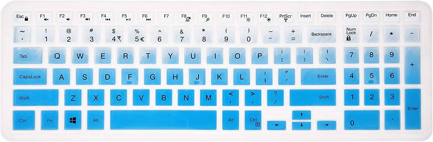 Keyboard Cover for Dell Inspiron 15 3000 5000 7000 Series/Dell Inspiron 17 5000 3000 Series/Dell G3 15 17 Series/Dell G5 15 Series/Dell G7 15 17 7786 7790 Series - Gradual Blue