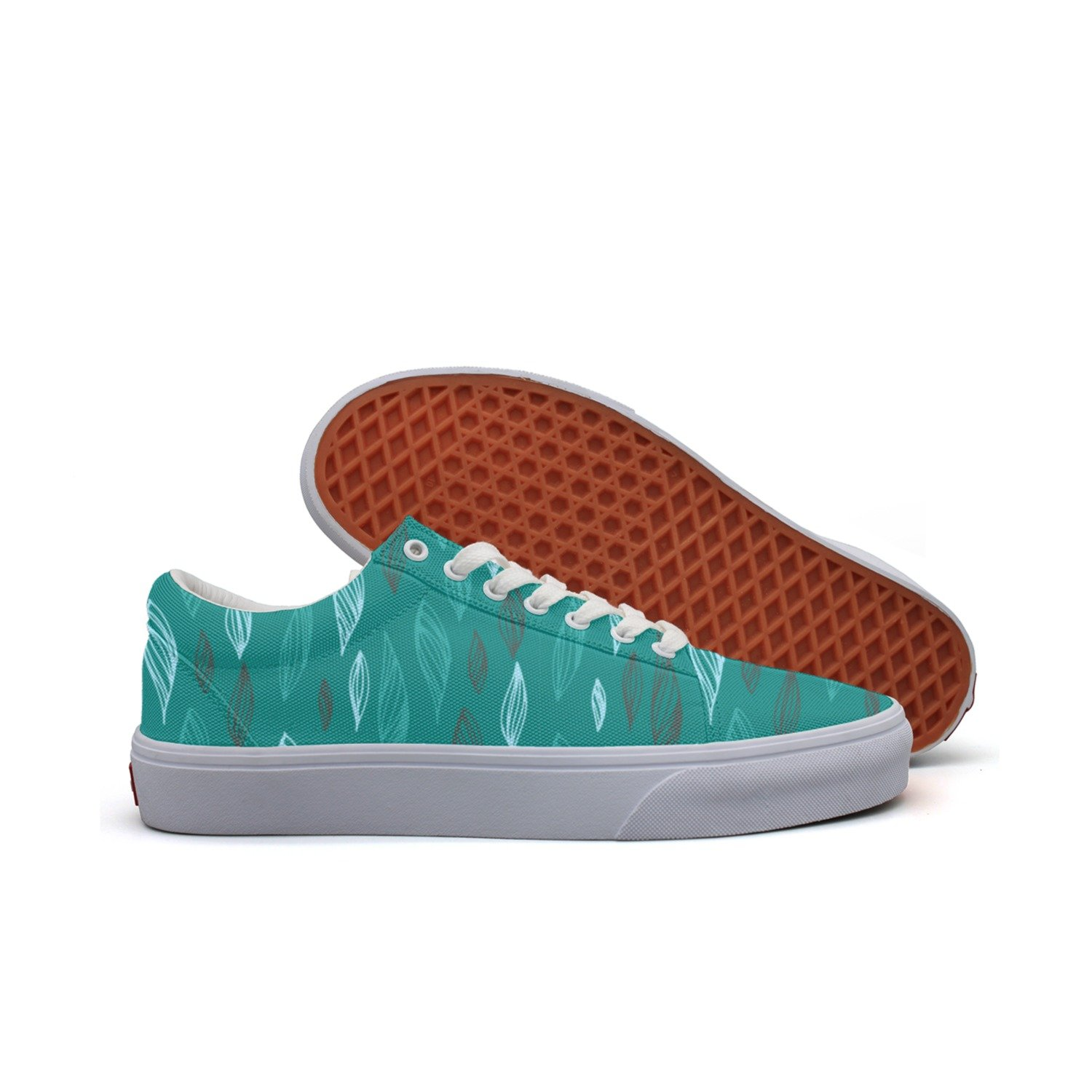 Leaves Hand Drawn Style Women's Casual Shoes Boat Athletic Print Simple