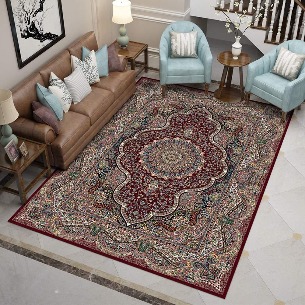 Clothes UK- Iranischer persischer Windteppich-Wohnzimmer-Schlafzimmer-Wolldecke-moderner Kunst-klassischer Stil optional Teppich (Farbe   B, größe   160X230CM)