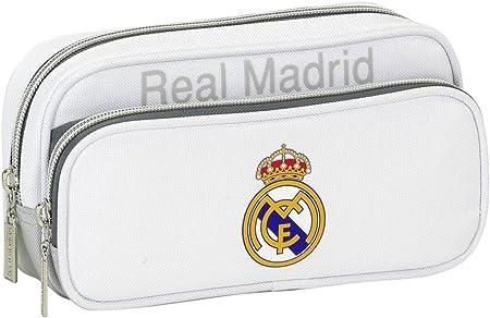 Real Madrid CF - Estuche Portatodo con Bolsillo (SAFTA 811624602), Color Gris: Amazon.es: Juguetes y juegos