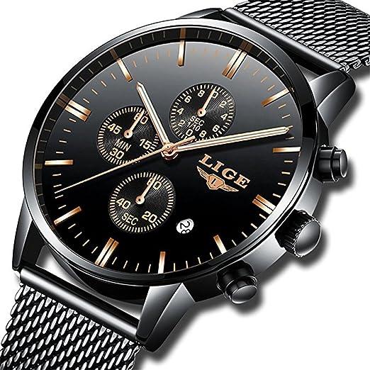 Herren Uhren Fashion Wasserdicht Edelstahl Analog Quarz Armbanduhr