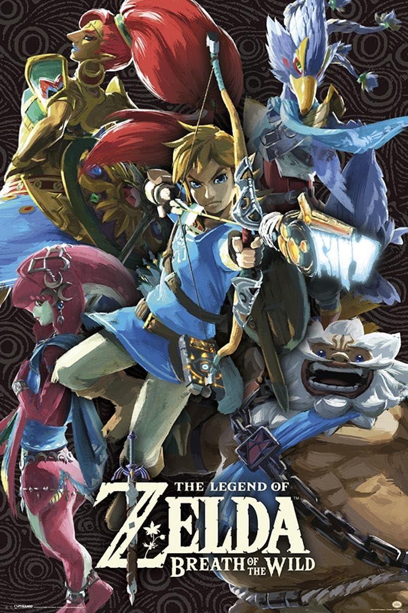 The Legend of Zelda Póster Breath of The Wild (61cm x 91,5cm): Amazon.es: Hogar
