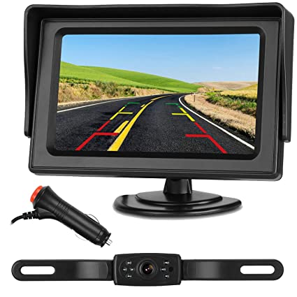 Backup Camera System >> Emmako Hd 720p Backup Camera System And 4 3 Monitor For Cars Suvs Vans Pickups Trucks Rear Front View Camera Adjustable Guide Lines On Off Super