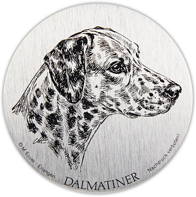 Schecker Selbstklebende Silberfarbene Metallplaketten Dalmatiner Wetterfest Versiegelt Für Den Briefkasten Oder Auch Autoaufkleben Hochwertig Und Edel Warnschilder Esser Haustier