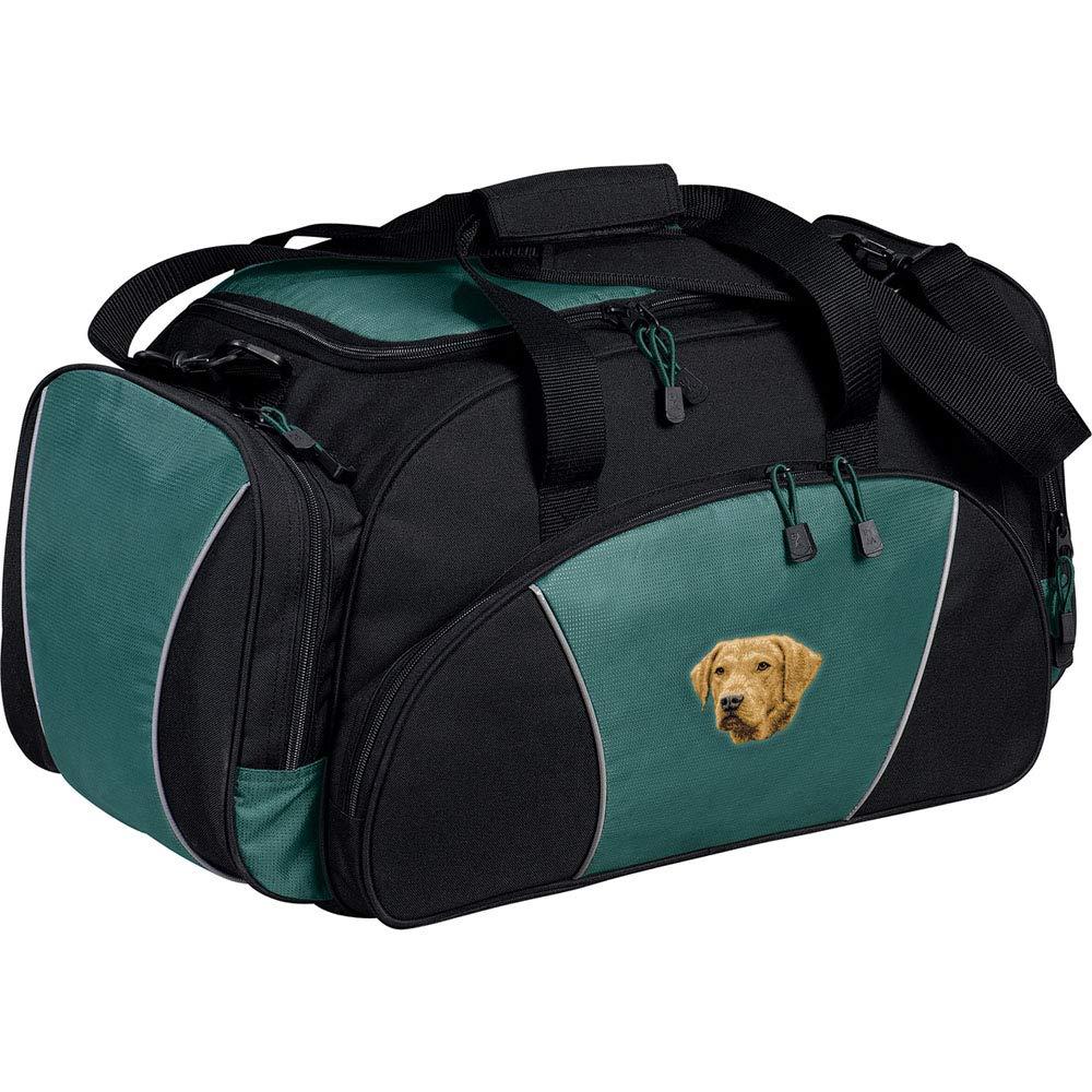 Hunter Green Cherrybrook Breed Embroidered Duffel Bags Greyhound