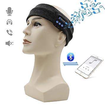Bluetooth Headphones Headband, Amytech Yoga Diademas Diadema inalámbrica Deportes auriculares auriculares auriculares con cancelación de