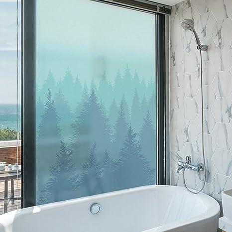 Merveilleux YQ WHJB Bathroom Privacy Film,No Glue Static Decorative Films,Forest  Waterproof PVC Anti