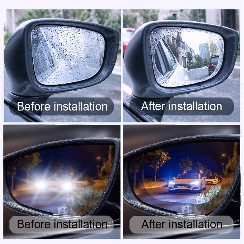 Rainproof Rear View Mirror Window Clear Nano Film Hd Car Mirror Accessories 4PCS /… Lihui Car Rearview Mirror Film