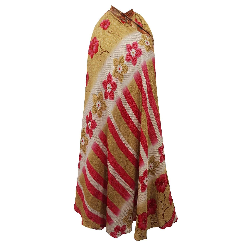 Frauen tragen Vintage-Kleid Polyester Magie Wickelrock plus langes 37