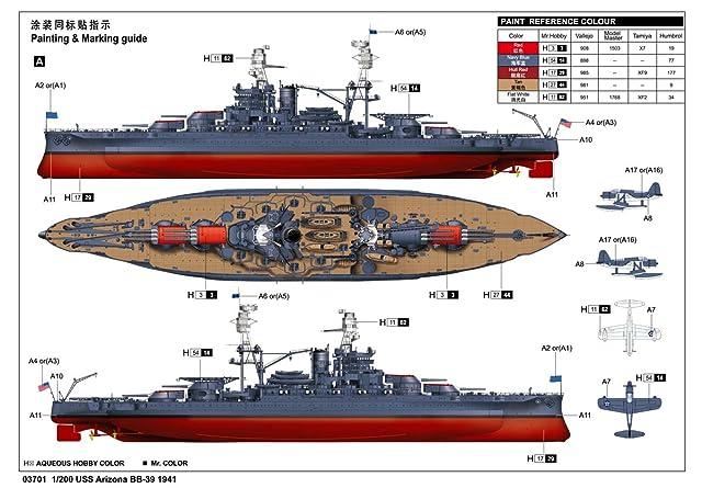 トランペッター 1/200 アメリカ海軍戦艦 BB-39 アリゾナ プラモデル[並行輸入品]