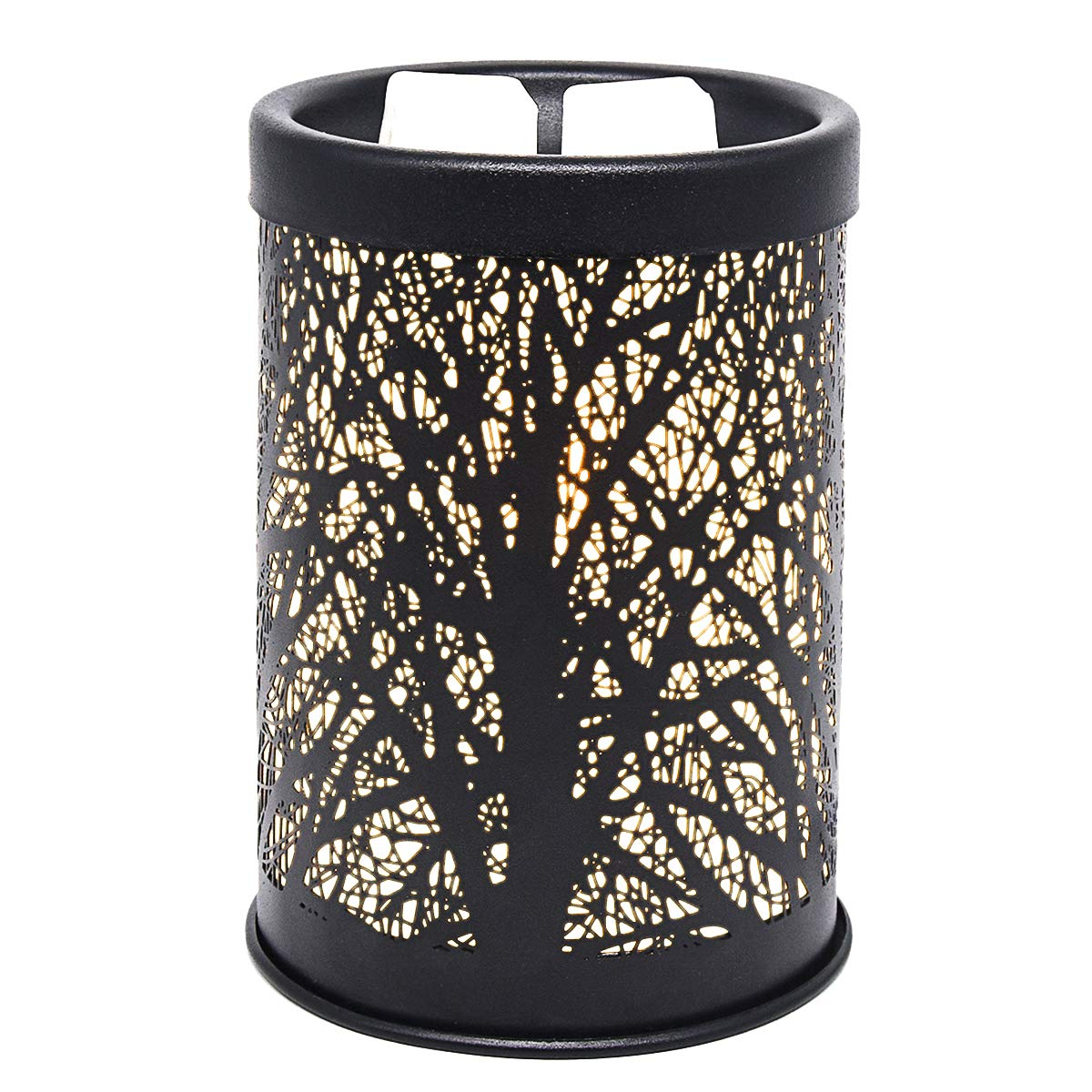 EQUSUPRO Metal Wax Melt Warmer Electric Wax Burner Melter Fragrance Warmer for Home Office Bedroom Living Room Gifts & Decor (Tree)