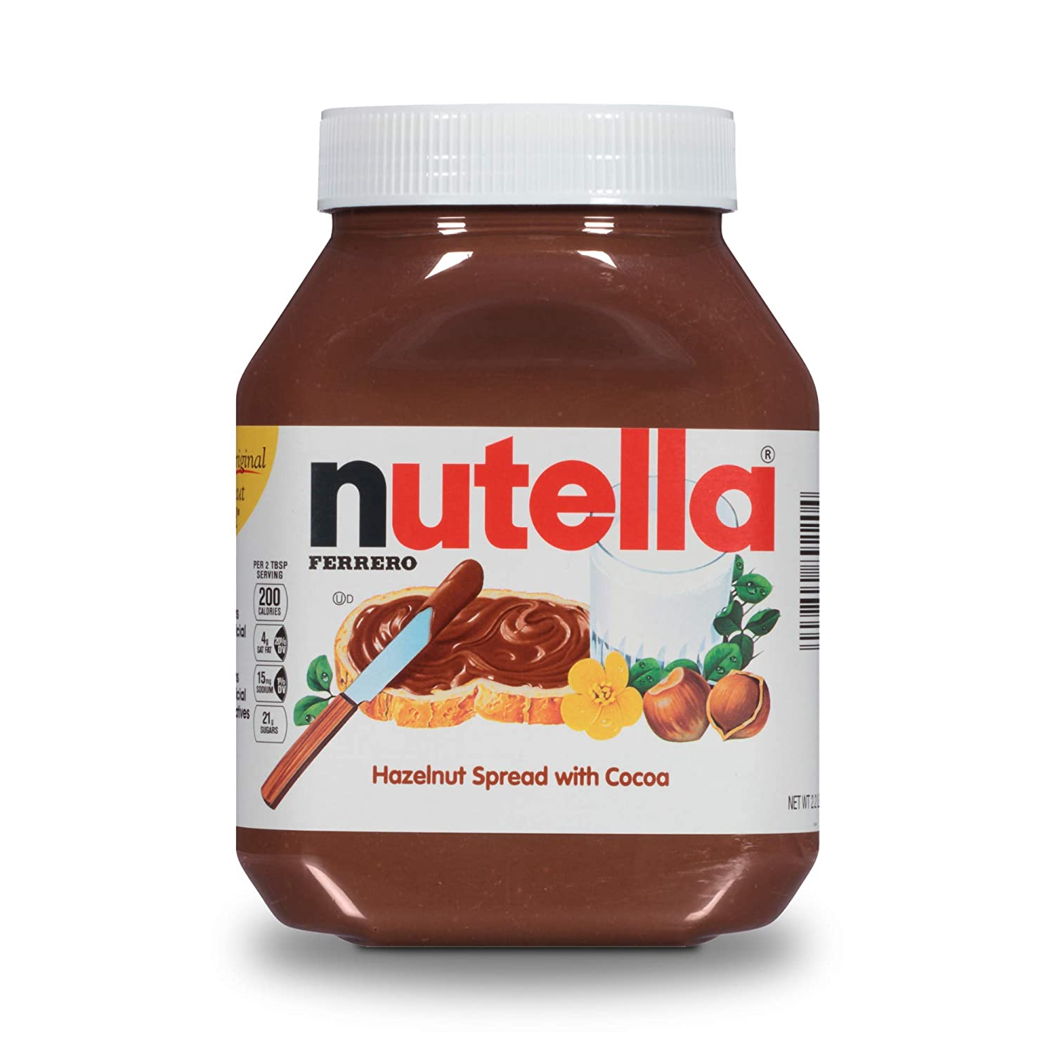 Nutella Chocolate Hazelnut Spread, Perfect Topping for Pancakes, 35.2 Oz Jar