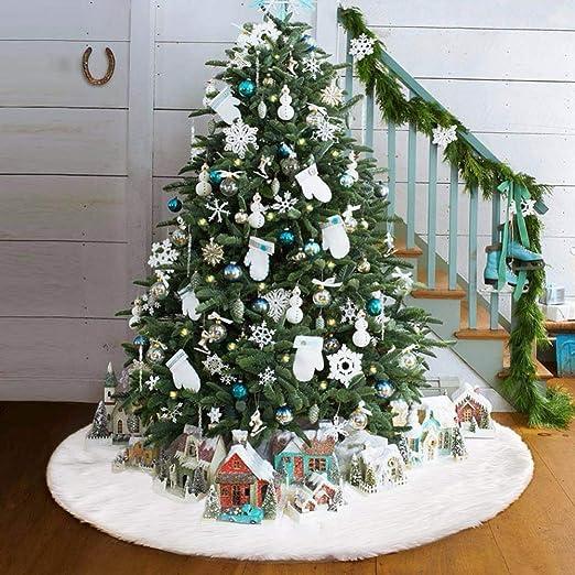 Oceanheart Manta Decorativa para pie de árbol, Faldas para el ...