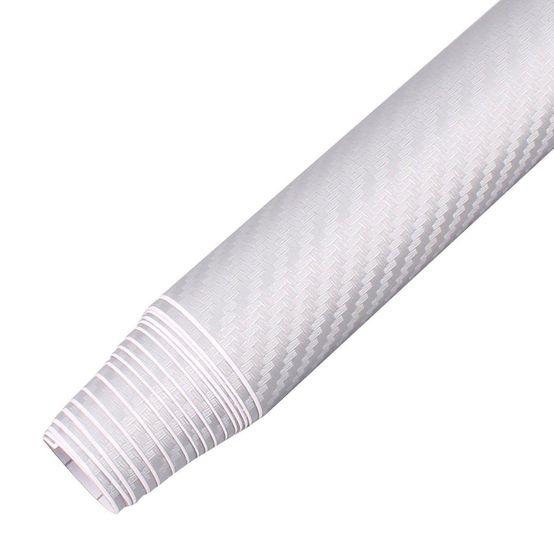 Silver Film Roll 30 x 152 cm In fibra di carbonio 3D per furgone DIY-Foglio adesivo