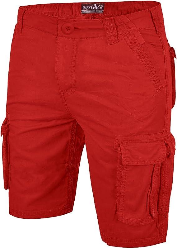 KEY Dungaree Style Work Shorts Khaki Mens Work Shorts American Workwear