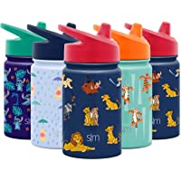 Simple Modern Kids Insulated Cup with Lid and Silicone Straw Stainless Steel Flask Metal Thermos for Toddlers Boys and Girls, 10oz Sippy, Lion King