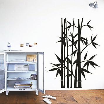 bamb negro adhesivo decorativo para pared casa de vinilo extrable papel pintado de saln dormitorio cocina