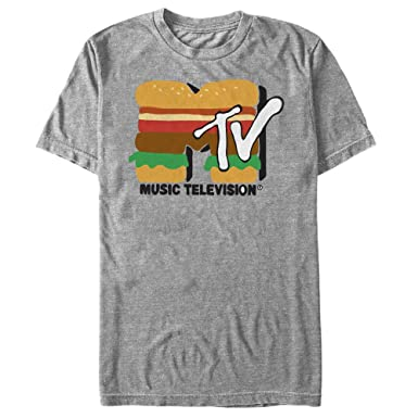 65e258ebb Fifth Sun MTV Men's Cheeseburger Logo Athletic Heather T-Shirt