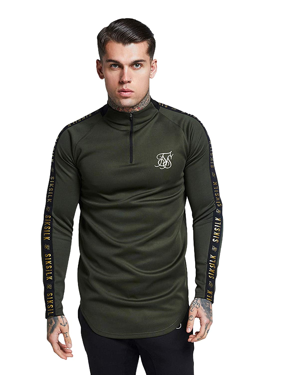 Sik Silk L/s Athlete Training Top Camiseta Manga Larga Hombre Caqui