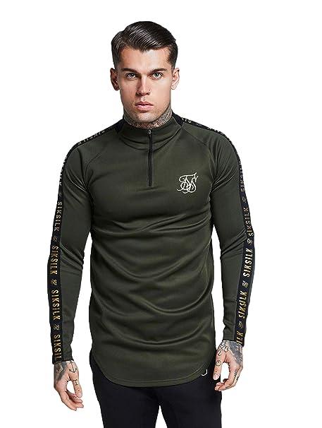 Sik Silk L/s Athlete Training Top Camiseta Manga Larga Hombre Caqui: Amazon.es: Ropa y accesorios
