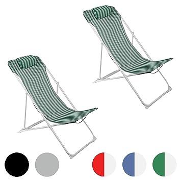 Silla de playa plegable Jard n Playa - De rayas verdes y ...