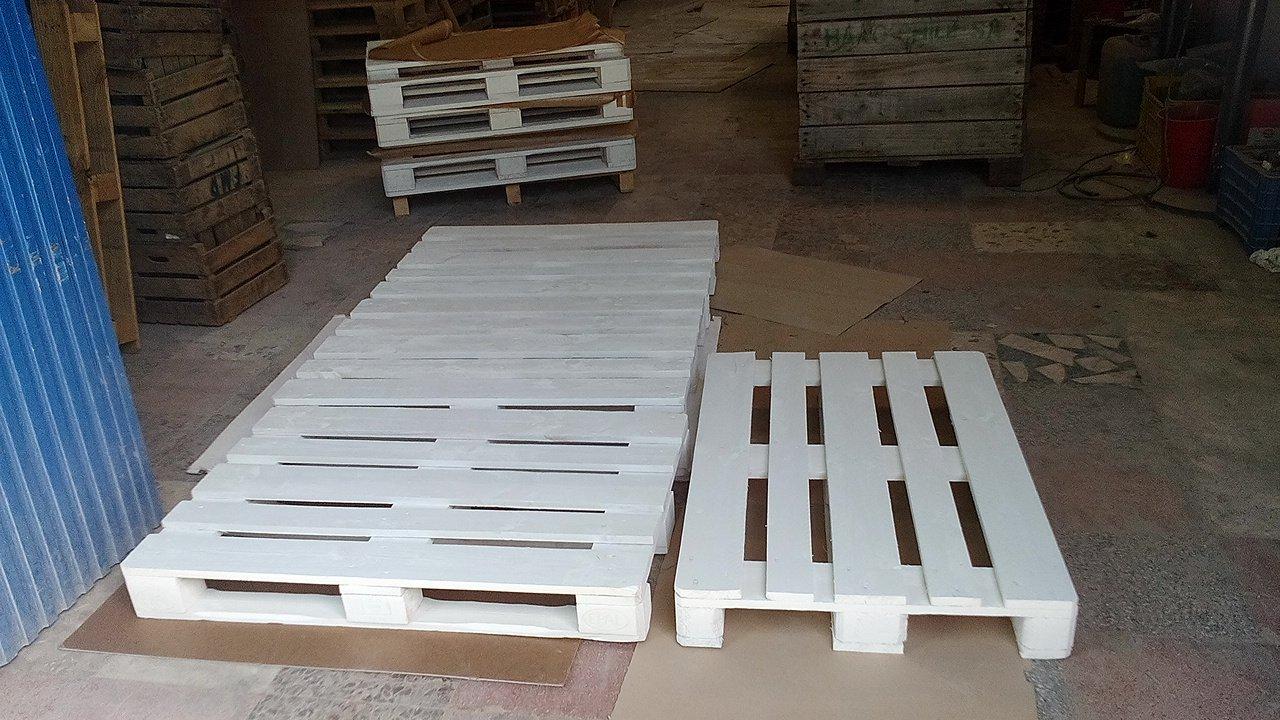 Dydaya Home Set 4 Palets Lijados Y Pintados De Blanco Para  # Muebles Lijados