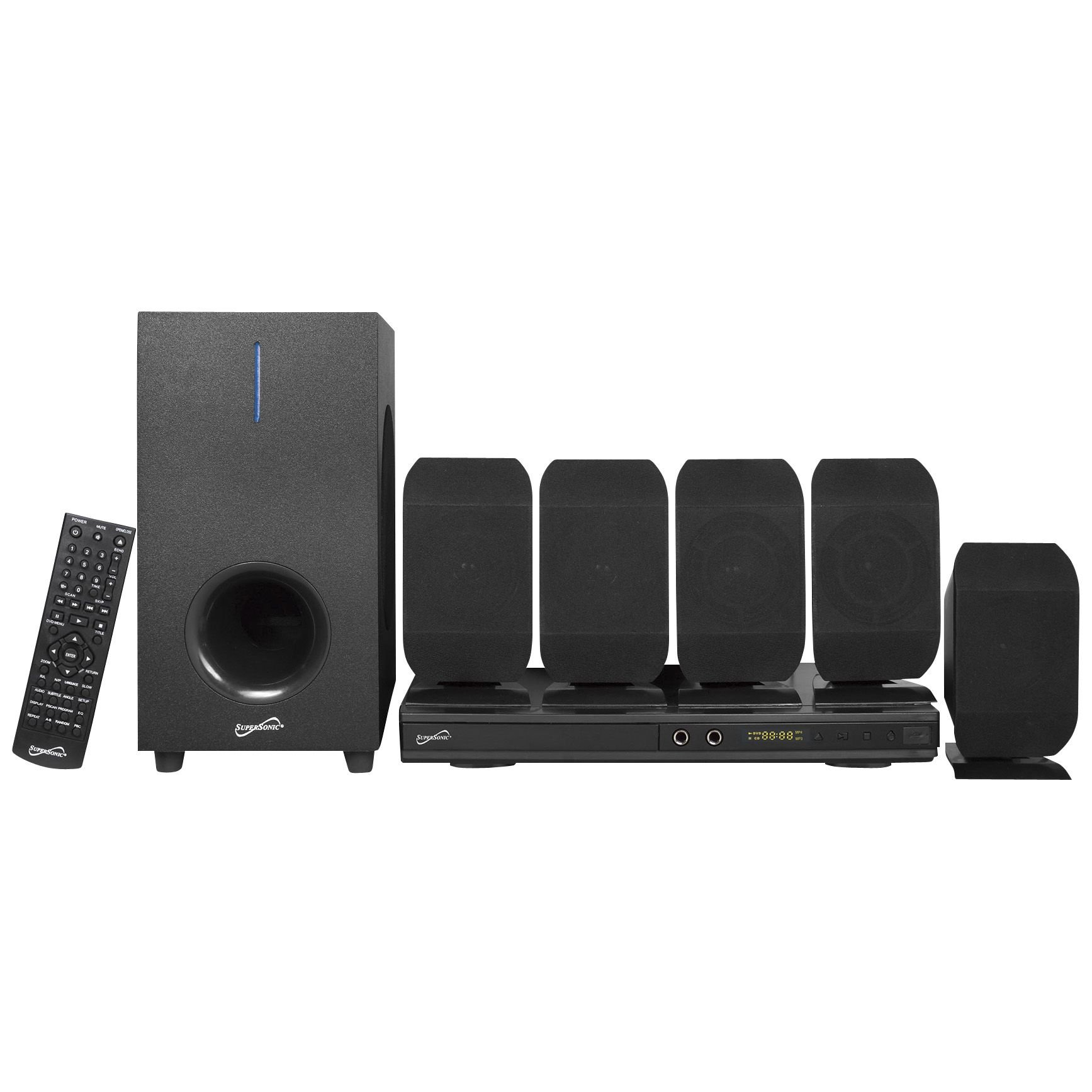 Supersonic SC-38HT 5.1 Channel DVD Home Theater System with Karaoke Function
