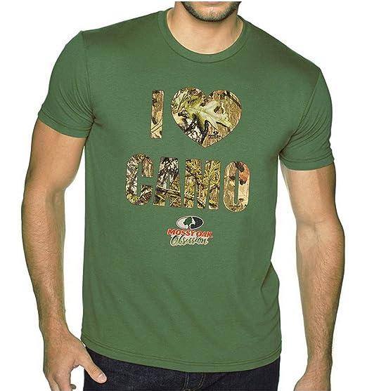 Mossy Oak I Love Camo Men s Military Green T-Shirt Small Military Green 7a6827e1f86