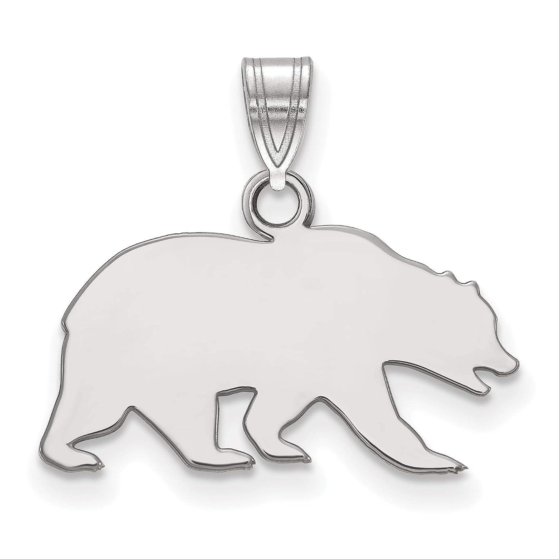 14k White Gold UC Berkeley California Golden Bears School Mascot Pendant 13x8mm